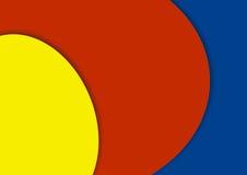 Синь красочного желтого цвета предпосылки красная стоковое изображение
