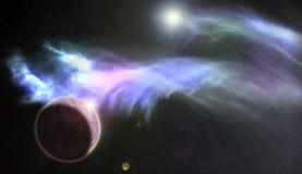 Синь 1 межзвёздного облака планеты Стоковые Изображения