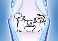 синь младенца Стоковое Изображение RF