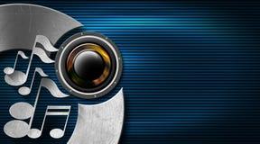 Синь музыки и визитная карточка металла Стоковые Фото