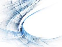 Синь на белой абстрактной предпосылке Стоковая Фотография RF