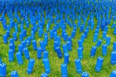 Синь на зеленом цвете Стоковая Фотография RF