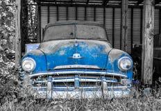 Синь на сером цвете Стоковое Фото