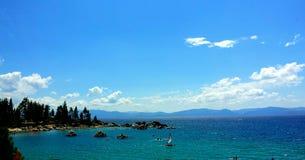 Синь озера Стоковое фото RF