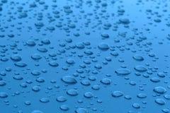 синь падает поверхностная вода стоковые изображения rf
