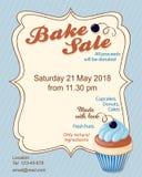 Синь печет рогульку продвижения продажи с пирожным голубики бесплатная иллюстрация