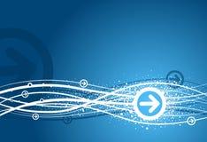 синь предпосылки стрелки Стоковые Фото
