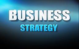 Синь предпосылки текста 3D стратегии бизнеса бесплатная иллюстрация