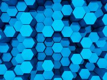 синь предпосылки 3d Стоковая Фотография RF