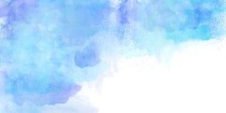 Синь предпосылки акварели Стоковая Фотография RF