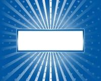 Синь предпосылки Sunburst с звездами стоковые фото