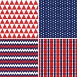 Синь предпосылок Дня независимости безшовная красная белая Стоковые Изображения