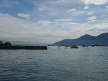 Синь пристани стоковая фотография