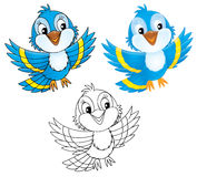синь птицы Стоковое Изображение RF