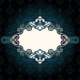 Синь рамки винтажная Стоковые Фото