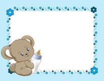 Синь рамки цветка Стоковые Изображения RF