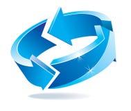 синь рециркулирует Стоковое Изображение RF