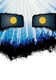 Синь рогульки партии диско стороны Стоковые Фото