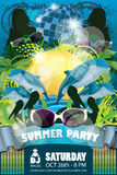 Синь рогульки партии лета Стоковое Изображение RF