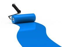 синь ролика краски 3d бесплатная иллюстрация