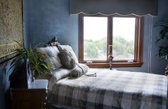 синь спальни Стоковые Фотографии RF