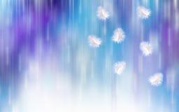 Синь с белизной невнятная предпосылка Стоковые Изображения