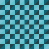 Синь треугольника полигона вектора картины безшовная Стоковая Фотография