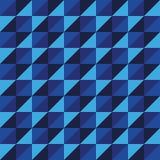 Синь треугольника полигона вектора картины безшовная Стоковые Фотографии RF