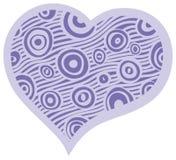 Синь украшения сердца пастельная Стоковое фото RF