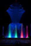 Синь фонтана парка Bayliss Стоковые Изображения RF