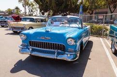 Синь Шевроле 1955 Bel Air Стоковые Изображения RF
