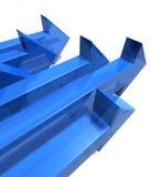 синь 6 стрелок Стоковое фото RF