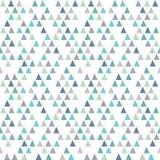 Синь aqua треугольников картины безшовного битника геометрическая Стоковые Фотографии RF