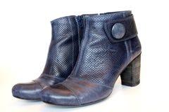 синь boots повелительницы стоковое фото