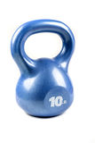 Синь kettlebell 10 фунтов Стоковое Фото
