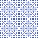 Синь patten рождества безшовная Стоковые Фотографии RF