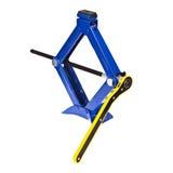 Синь scissor jack автомобиля Стоковая Фотография RF