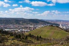 Синь Sk виноградников башни ТВ Германии ландшафта Штутгарта красивая Стоковое Изображение