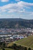 Синь Sk виноградников башни ТВ Германии ландшафта Штутгарта красивая Стоковые Изображения