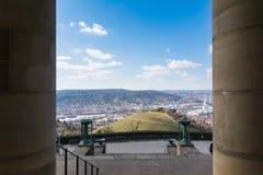 Синь Sk виноградников башни ТВ Германии ландшафта Штутгарта красивая Стоковые Изображения RF