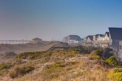 Синь Skys травы моря дюн Sandy Стоковые Изображения RF