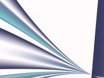 Синь, teal, военно-морской флот, стальной серый цвет и фракталь белизны с пуком кривых сходясь в расстоянии Стоковое Изображение RF