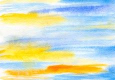 Синь yallow абстракции Стоковое фото RF