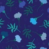 Синяя, винтажная картина с ноготками Стоковое Изображение