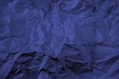 Синяя задавленная предпосылка ткани Стоковое фото RF