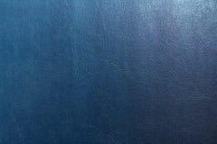 Синяя кожаная текстура, кожаная предпосылка текстуры Стоковые Изображения RF