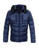 Синяя мужская куртка зимы Стоковые Фото