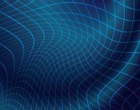 Синяя предпосылка вектора с решеткой Стоковые Фото
