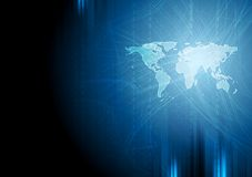 Синяя предпосылка двоичной системы техника Стоковое Фото