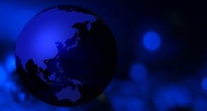 Синяя предпосылка планеты земли Стоковая Фотография RF
